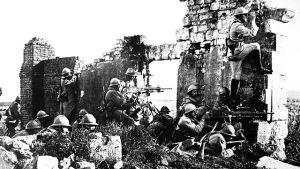 Ranskalaisia sotilaita Marnesssa 1. maailmansodan taisteluissa