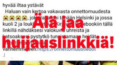 Skärmdump av ett falsifierat Facebookinlägg.