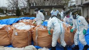 Radioaktivt avfall efter kärnkraftskatastrofen i Fukushima