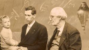 Tre generationer Piccarder - Bertrand, Jacques och Auguste.