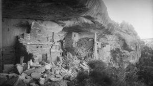 En av klippbyruinerna i Mesa Verde.