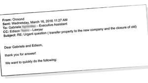Revinnäinen sähköposti kirjeenvaihdosta Mossack Fonsecan kanssa