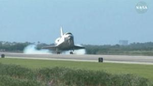 Rymdfärjan Atlantis landade för sista gången