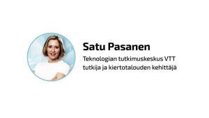 VTT:n tutkija Satu Pasanen.
