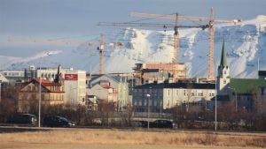 Isländska byggprojekt stannar upp under krisen
