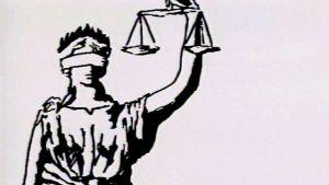Rättvisans gudinna Justitia