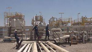 Oljefält i norra Irak, nära staden Zakoh.