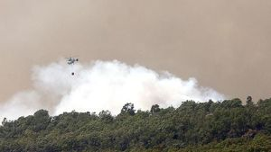 Skogsbrand spanien 21.07.2009