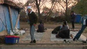 Lägret i Calais töms