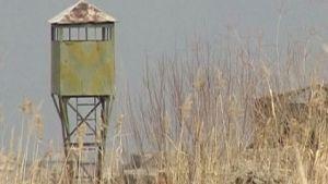 Gränsstation mellan Armenien och Turkiet