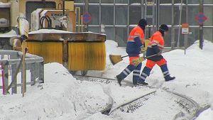 Tågspår hålls rena från snö