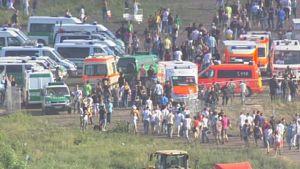 Panikolycka under Love parade i Duisburg den 24 juli 2010.