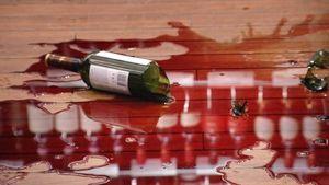 Söndrig vinflaska