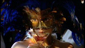 Alexandra De Paoli på nyårsmaskerad