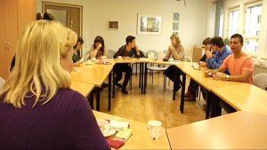 En grupp sjukskötare från Spanien anlände till Vasa redan i höstas