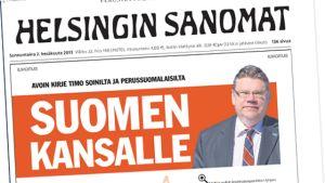 Helsingin Sanomats första sida 2 juni 2013.