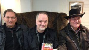 Per-Erik Krooks, Charles Plogman och Björn Schauman med Gitarrgodingar