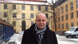 Christer Holmlund, förbundssekreterare på Finlands Svenska Lärarförbund.