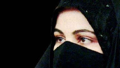 Beslöjad muslimsk kvinna