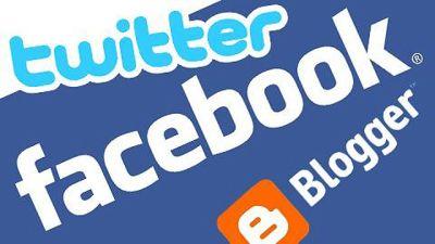 Twitter och Facebook logos