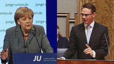 Förbundskansler Merkel och statsminister Katainen