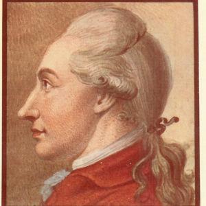 Målning av Goethe