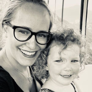 Johanna Loo och dottern Amanda, Hongkong.