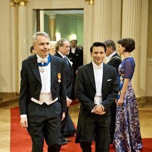 Pekka Haavisto och Antonio Flores