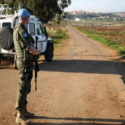 Fredsbevarare i Libanon tidigare i år