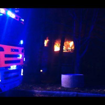 Lägenhetsbrand i Sockenbacka i Helsingfors