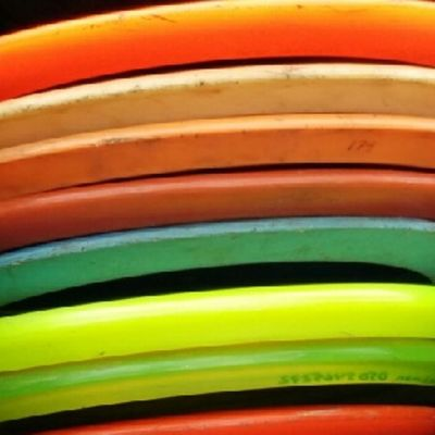 Frisbeegolf-kiekkoja.
