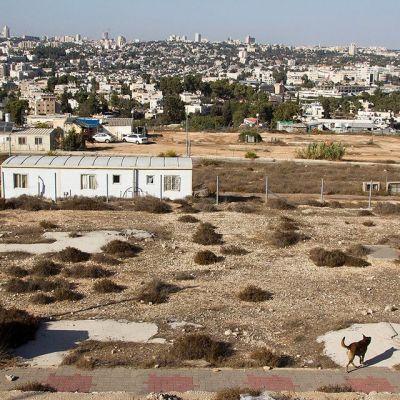 Näkymä Givat Hamatosin alueelta kohti Jerusalemia.