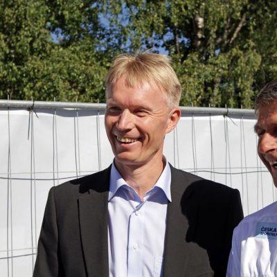 Tapio Korjus ja Jan Zelezny.