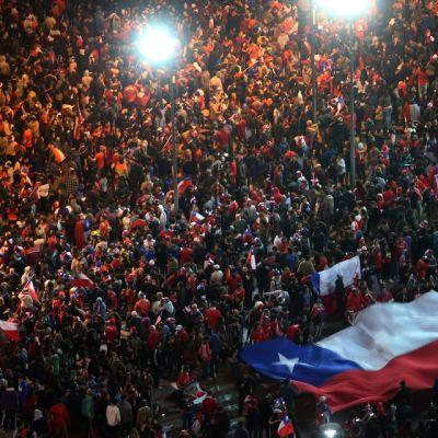 Chilen pääkaupunki Santiagossa juhlittiin Copa American voittoa