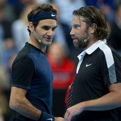 Roger Federer ja Peter Forsberg