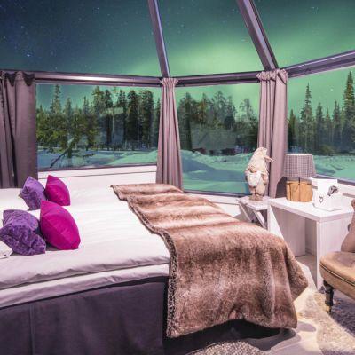 Lasi-iglu Arctic Eye Santa's Hotels