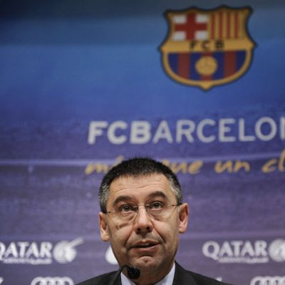 FC Barcelonan puheenjohtaja Josep Maria Bartomeu.