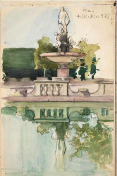 Eero Järnefelt, Springbrunn i Italien. (1890-talets slut)