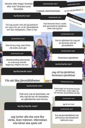 Yle X3M Guld:s följare på Instagram hade många åsikter om feminism.