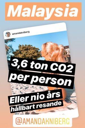 """Skärmdump av Instagramkonton """"Aningslösa influencers"""" story."""
