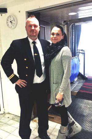 Christian och Mirella Puotila på Sverigebåten.