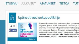 skärmpdump från Suomen perustas webbsida