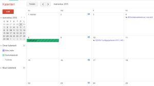 google kalenteri yleinen