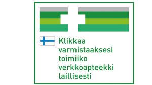 Logo som visar om apoteket utöver laglig webbhandel.