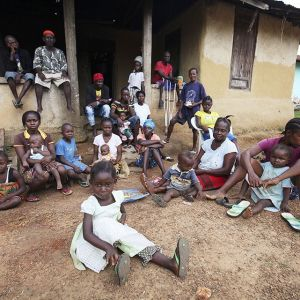 Byn Jene Wondi i Liberia.