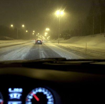 Biltrafik under vintern