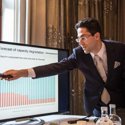 Grigori Edel, ägare i migrit solarna energija.