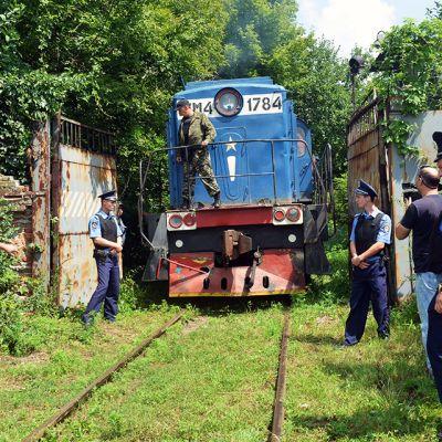 Ukrainen lentokoneturmassa menehtyneiden ruumiita kuljettanut juna saapui Harkovaan 22. heinäkuuta.