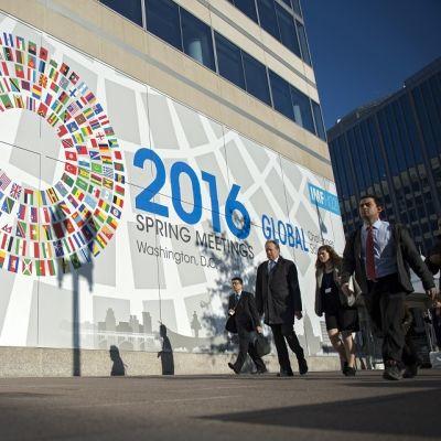 Maailmanpankin ja IMF:n kevätkokous järjestettiin IMF:n päämajassa Washingtonissa huhtikuussa 2016.