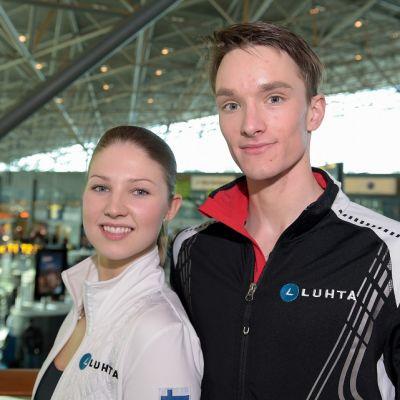 Cecilia Törn ja Jussiville Partanen kuvassa